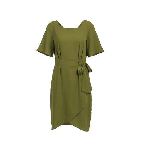 Image of Women Casual Short Sleeve Dresses Bodycon Elegant Office Dress