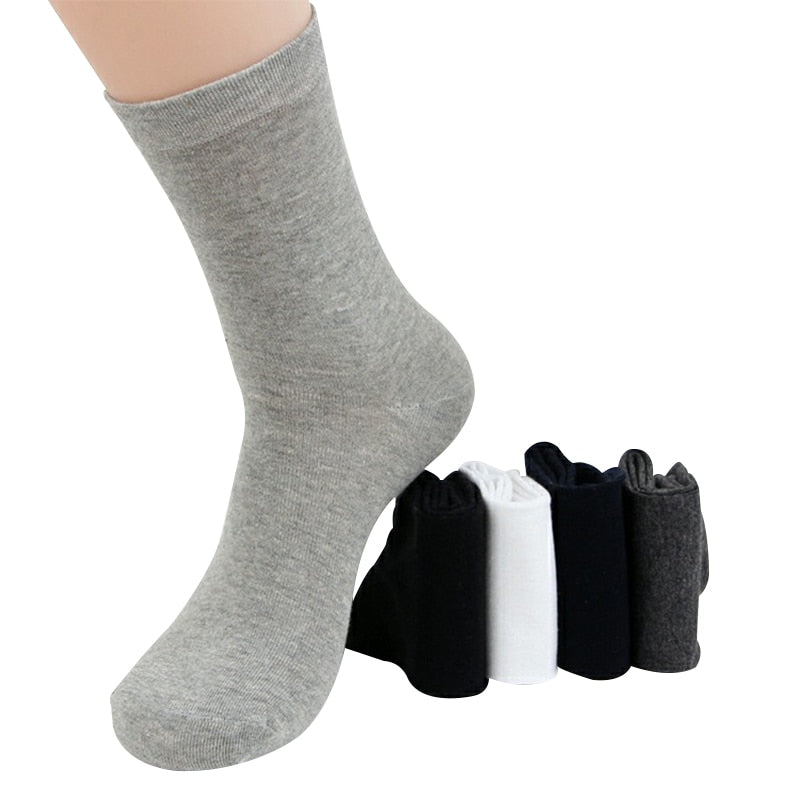 White Casual Long Socks