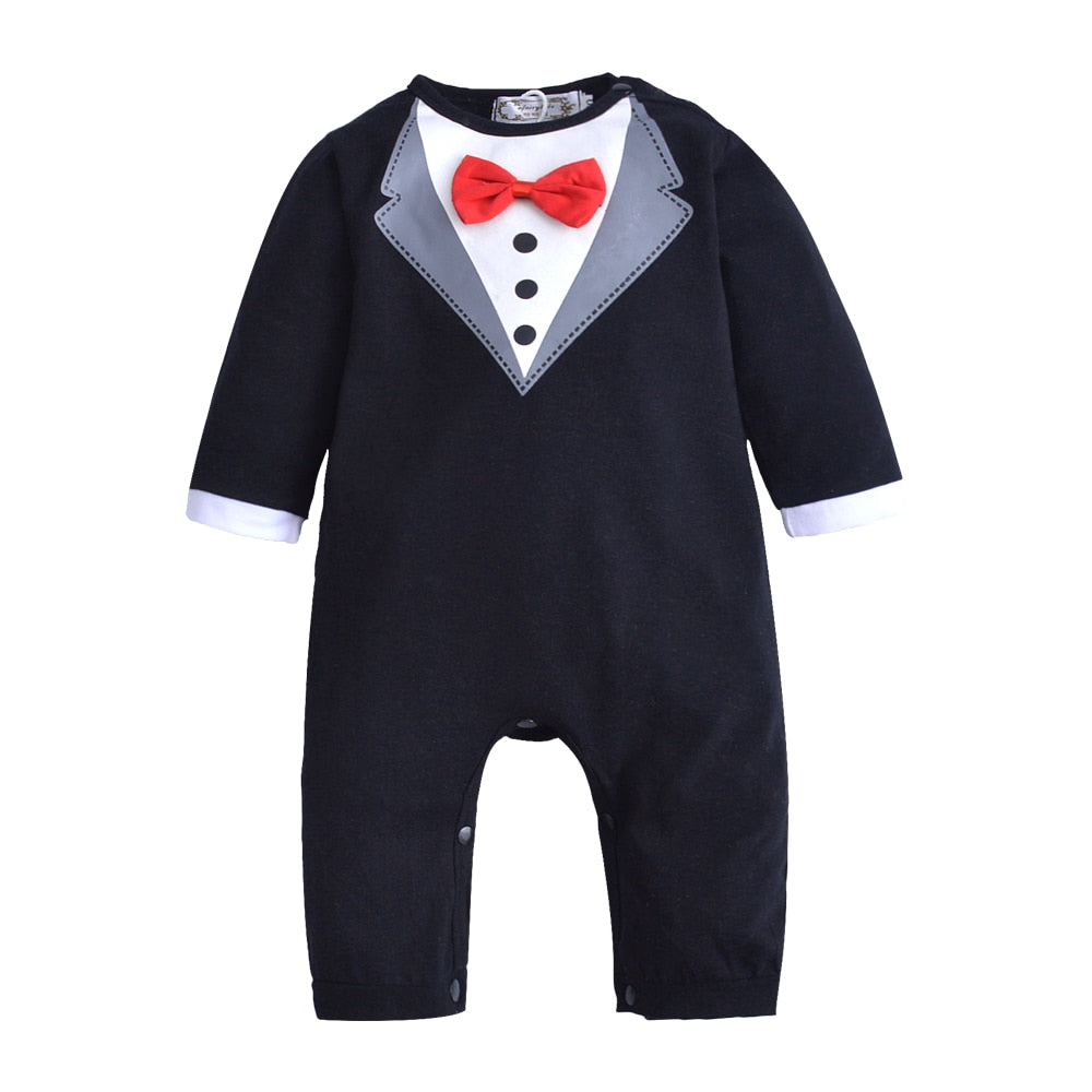 Baby Boy Romper Infant Toddle baby Suit Little Gentleman