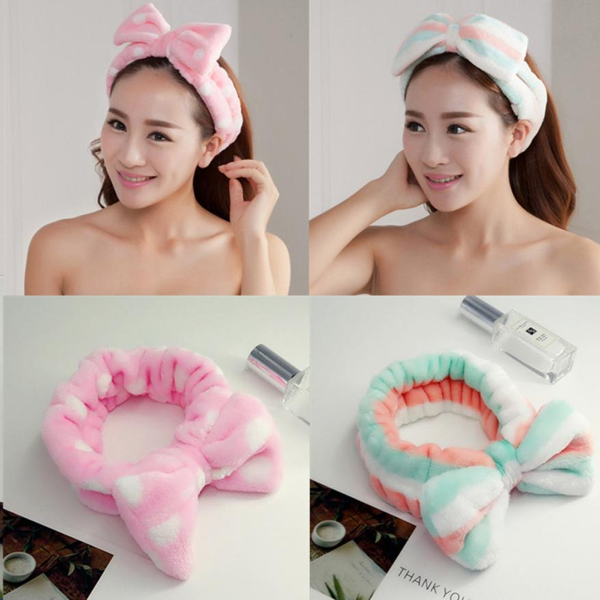 Cute Women Girl Hairband Bow Knot Soft