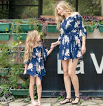 Enjoy Mother Daughter Dresses Spring Autumn Matching Outfits