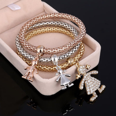 3PCS Set Crystal Bracelets & Bangles