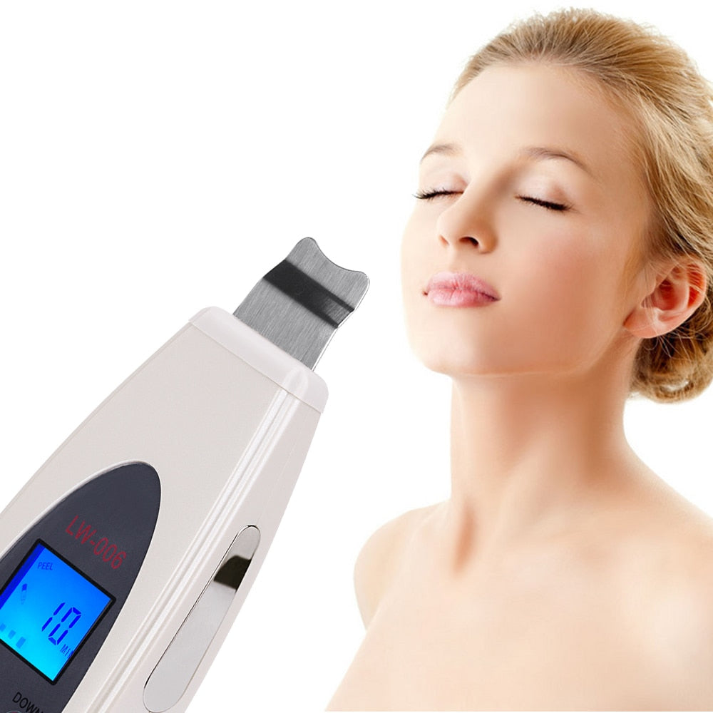 Ultrasonic Skin Scrubber Cleanser Face Cleansing Acne Removal