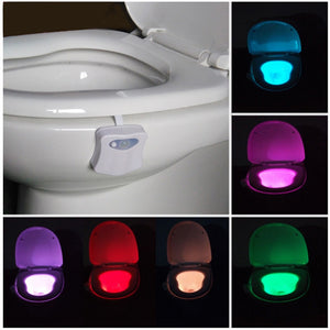 Motion Activated Toilet Night Light 8 Color Changing Led Toilet Seat Light