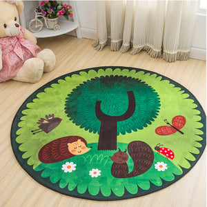 Non-Slip Carpet Machine Washable Round Area Rug