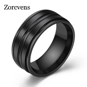 Stainless Steel Wedding Rings Three Colors Trendy Fashion Jewelry
