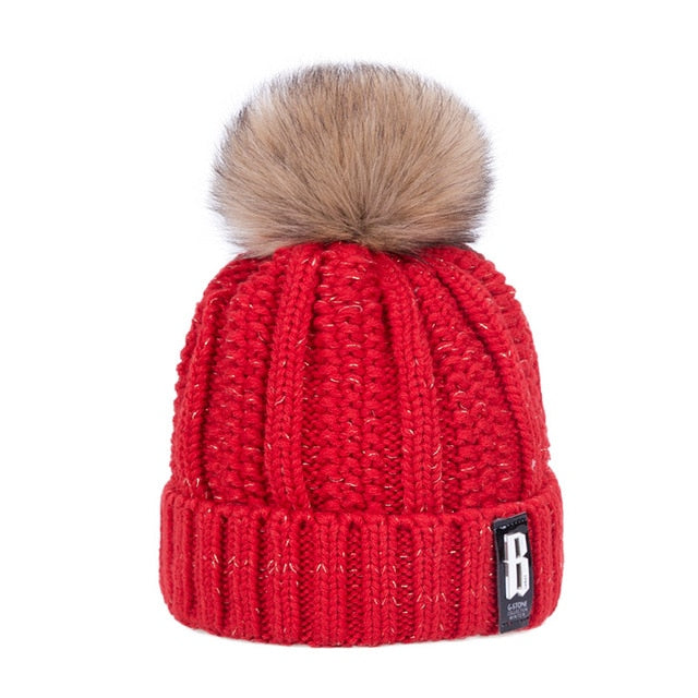 Poms Winter Hat for Women