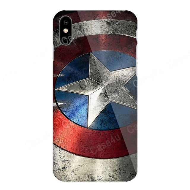 Marvel Captain America Shield Superhero Case Cover for iPhone XS Max XR X 10 7 8 Plus 6 6s