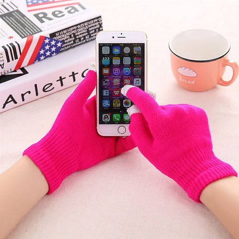 Colorful Touch Screen Winter Gloves For Man And Women