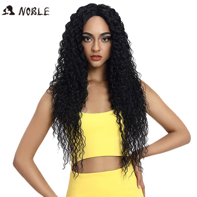 Blonde Wigs For Black Women Ombre Hair Synthetic Lace Front Wig