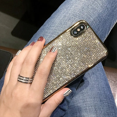 Luxury Fashion Bling Full Crystal Diamond Rhinestone Case For iPhone X