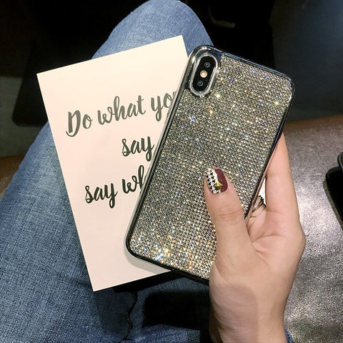 Image of Luxury Fashion Bling Full Crystal Diamond Rhinestone Case For iPhone X