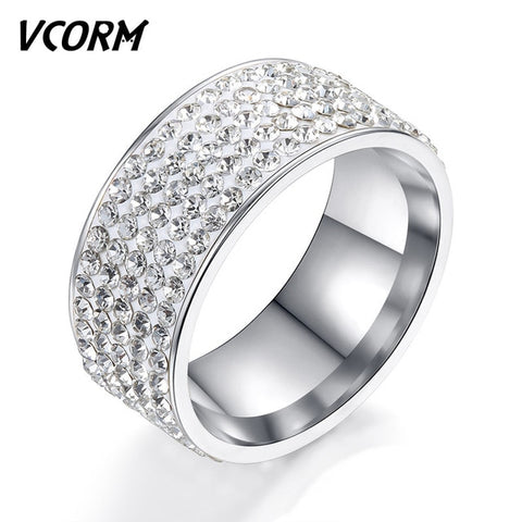 Wedding Rings for Women Men Fashion Titanium Steel