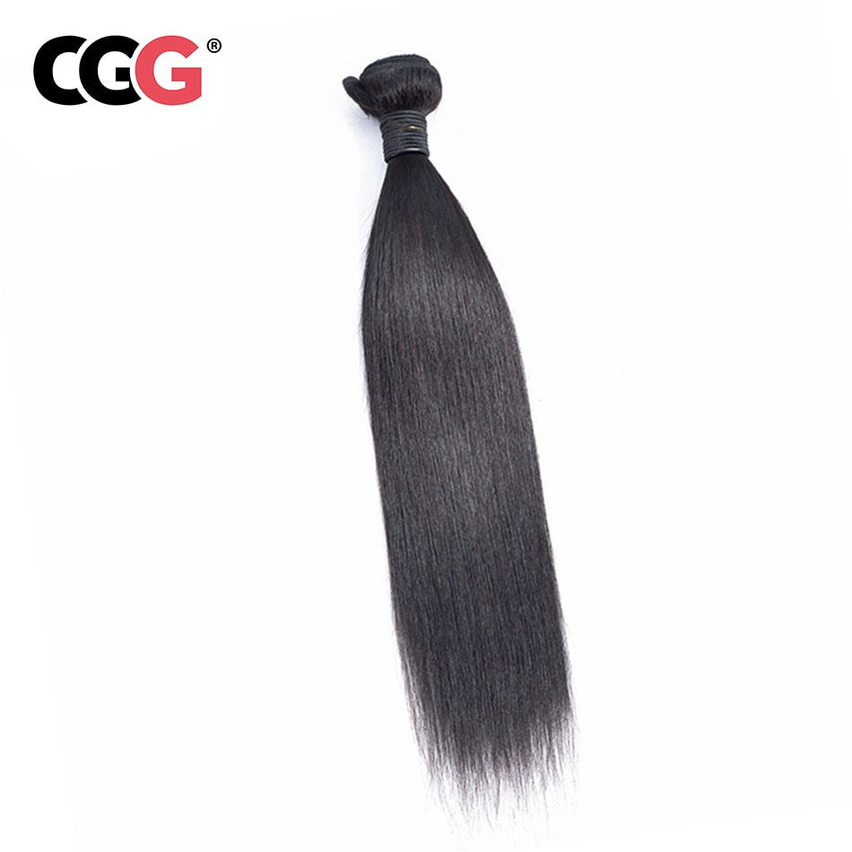1 Bundles Human  Hair In Extensions Natural Color 8-26 Inch Machine Double Weft