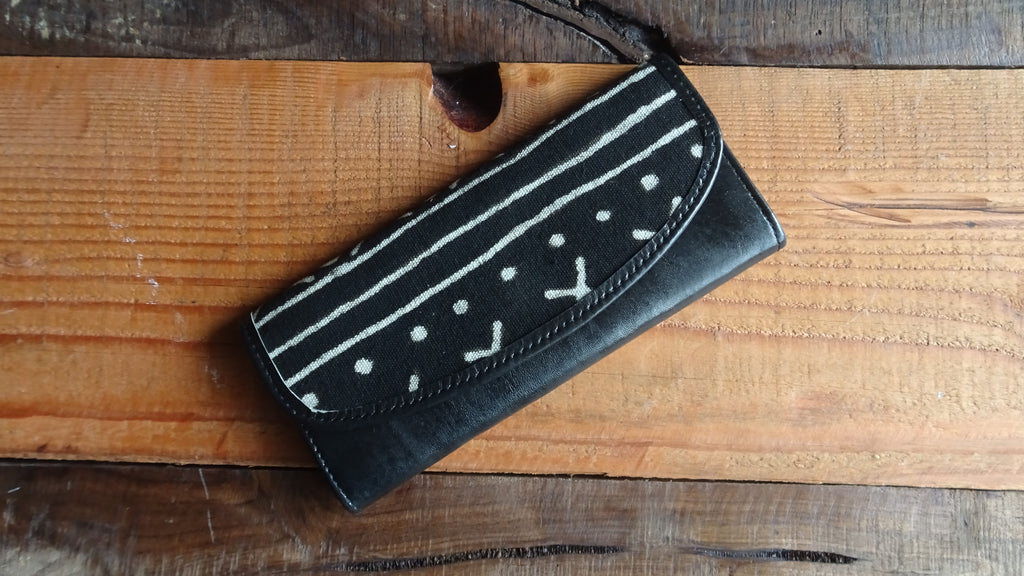 Mudcloth & Leather Wallet