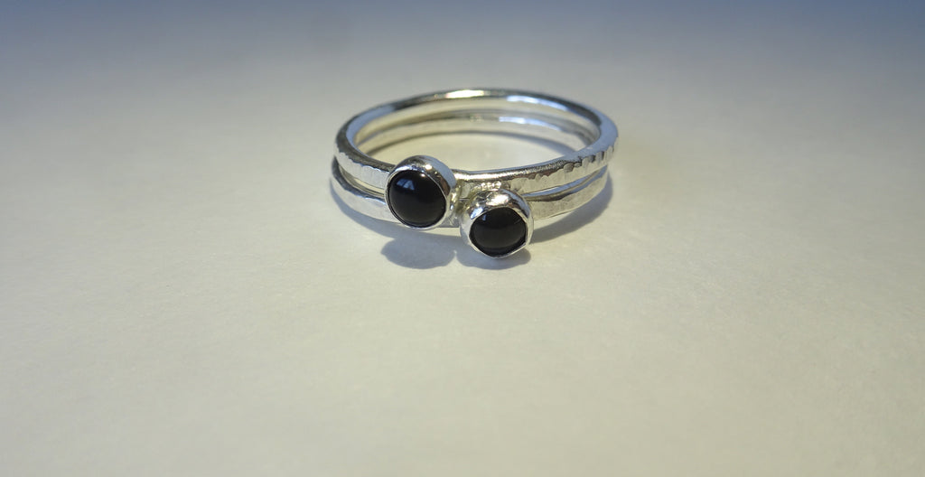 Black Onyx Stacking Ring