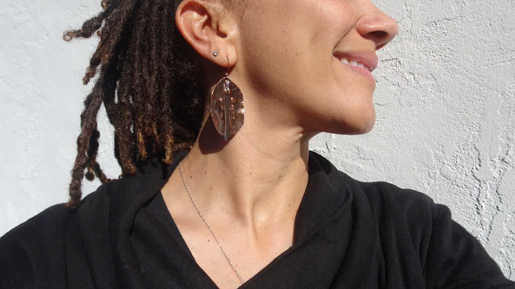 Yoni Leaf Earrings