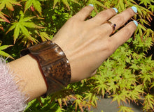Load image into Gallery viewer, Rustic Fold-Formed Copper Cuff Bracelet