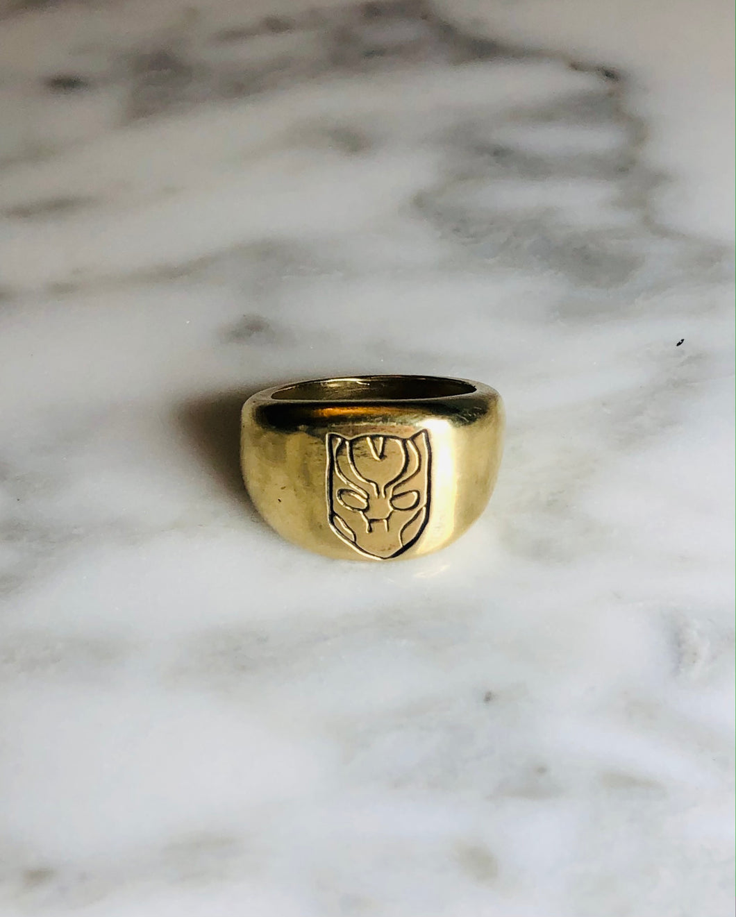 Bronze Black Panther Ring, size 7.5