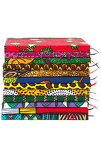 Load image into Gallery viewer, Ghanaian Ankara Cloth Covered Journals - Lined and Unlined