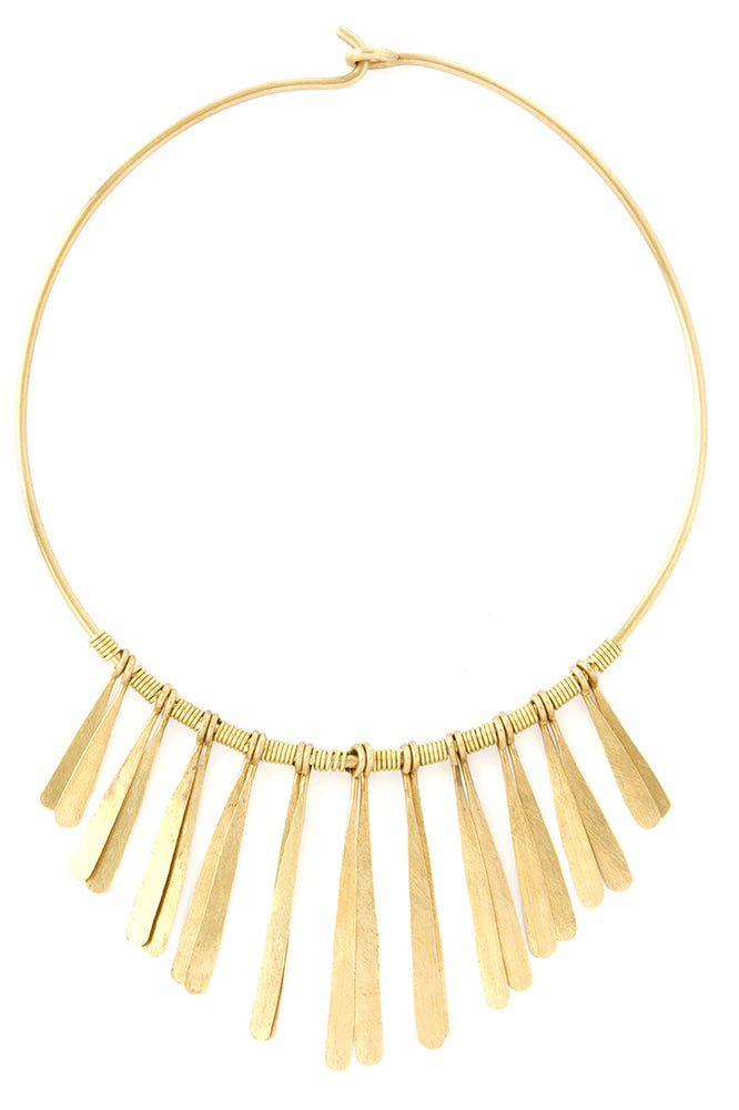 Aurora Brass Necklace from Kenya