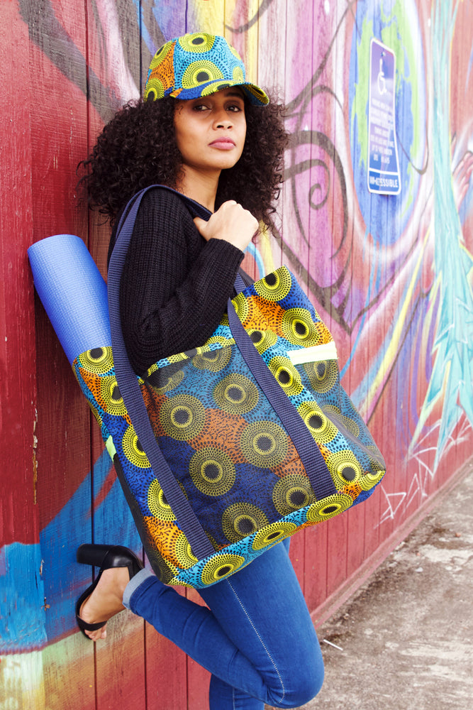 Ankara Cloth Beach Bags