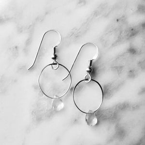 Crystal Quartz Drop Earrings