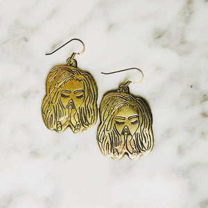 Bronze Nubian Prayer Earrings