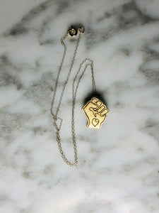 Black Power Fist Pendant