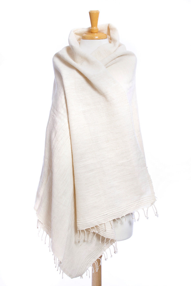 Natural Cotton Ethiopian Wrap Shawl