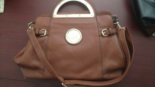Michael Kors pebbled leather messenger bag