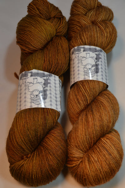 Tobacco, 434yds sock yarn
