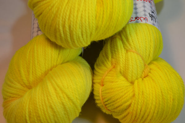Lemony Lemon, 100% Merino Wool Worsted
