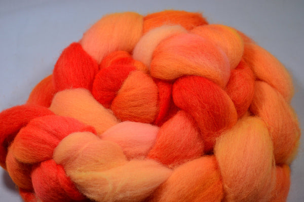 Florescent Orange, Polworth Wool and Silk