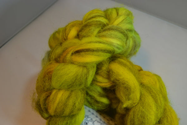 Lead Pencil mixed BFL wool Roving