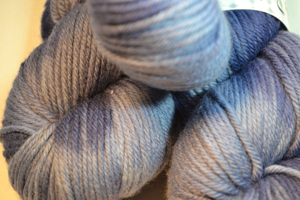 Faded Denim, 100% Merino Wool DK