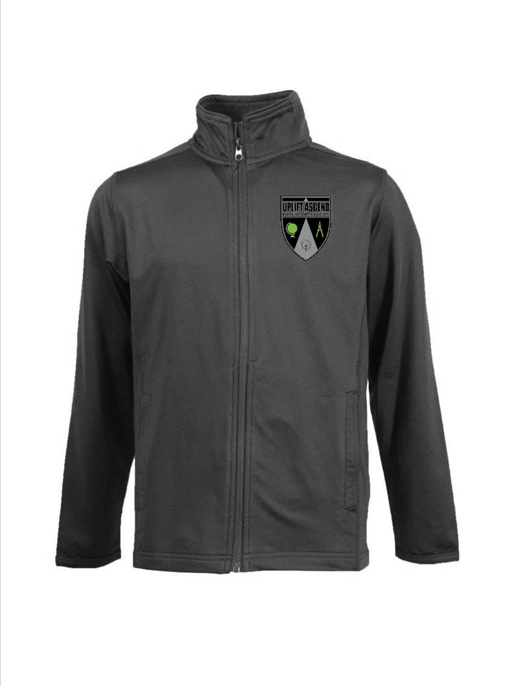 YOUTH FULL ZIP PERFORMANCE JACKET W/LOGO
