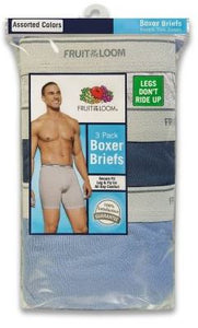 MENS 3 PACK ASSORTED COLOR BOXER BRIEFS