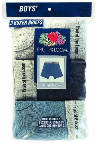 BOYS 3 PACK KNIT BOXER BRIEFS
