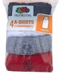 BOYS 4 PACK ATHLETIC SHIRTS