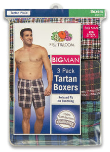 BIG MENS 3 PACK WOVEN BOXERS