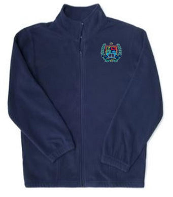 YOUTH FLEECE JACKET W/LOGO
