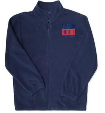 UNISEX ADULT FULL ZIP FLEECE JACKET W/LOGO
