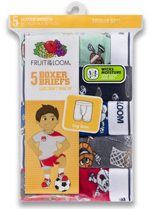 BOYS TODDLER 5 PACK BOXER BRIEFS