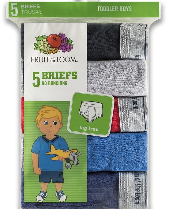 BOYS TODDLER 5 PACK FASHION BRIEFS