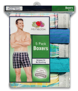 MENS 5 PACK KNIT BOXER