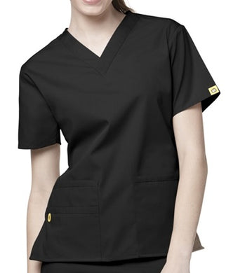 LADY FIT V NECK SCRUB TOP