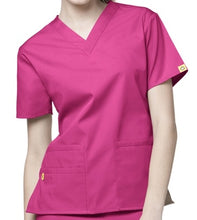 Load image into Gallery viewer, LADY FIT V NECK SCRUB TOP