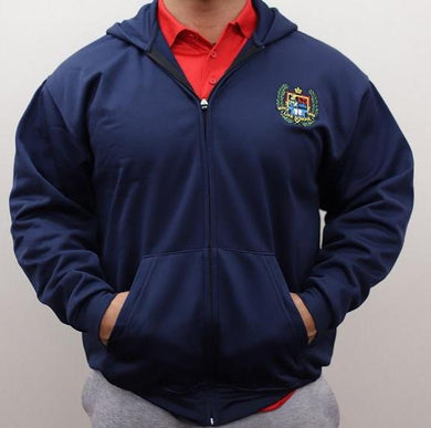 ADULT PERFORMANCE ZIP FLEECE HOODY W/LOGO
