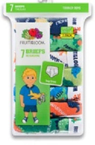 BOYS TODDLER 7 PACK DAYS OF WEEK BRIEFS